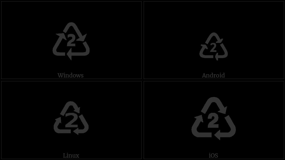 Recycling Symbol For Type 2 Plastics Utf 8 Icons