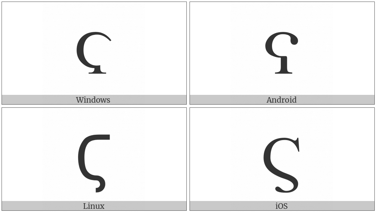 Greek Letter Stigma on various operating systems