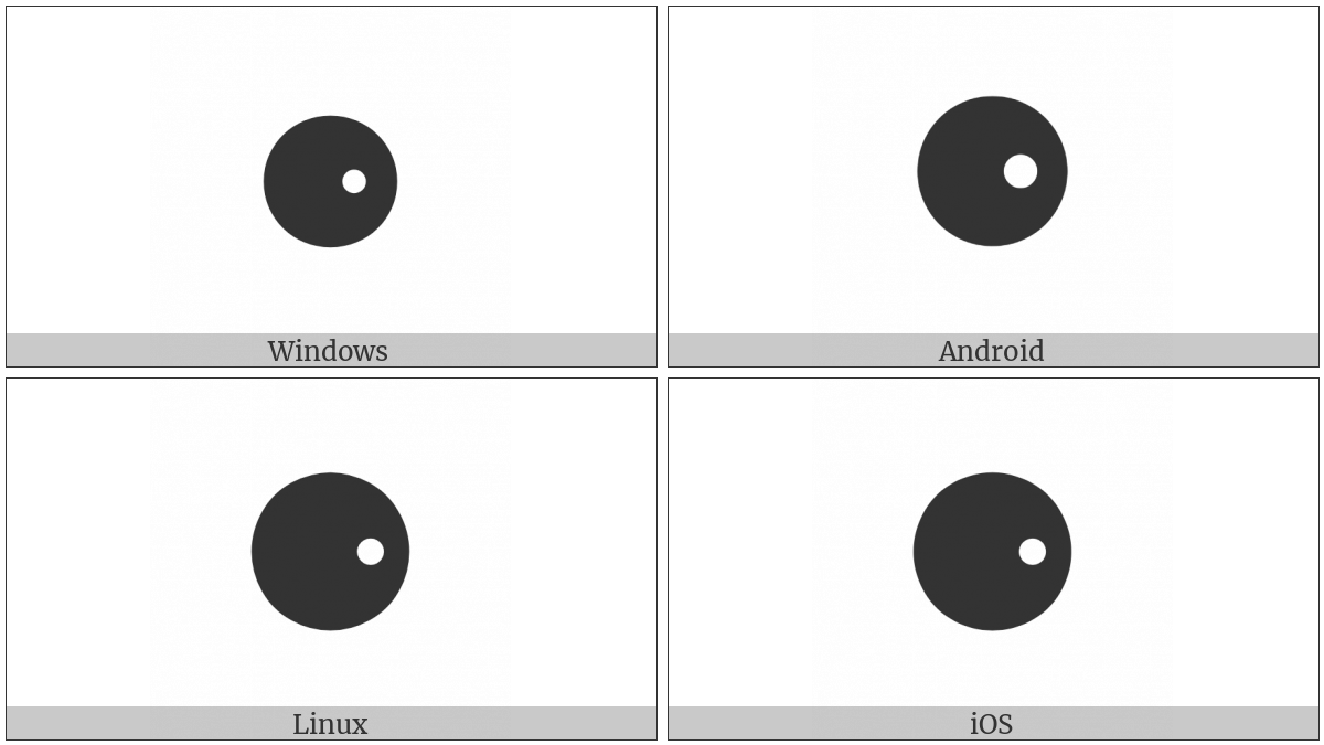 Black Circle With White Dot Right on various operating systems