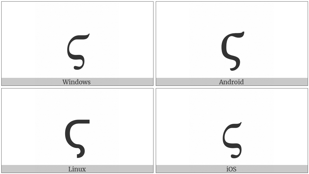 Greek Small Letter Stigma on various operating systems