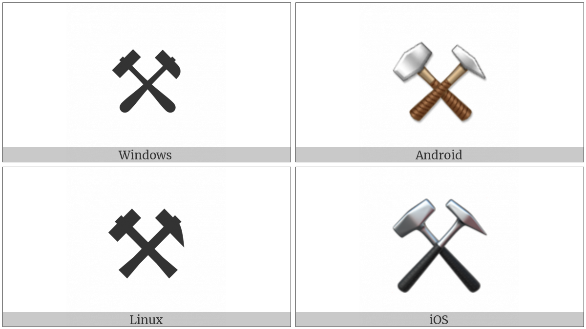 Hammer And Pick on various operating systems