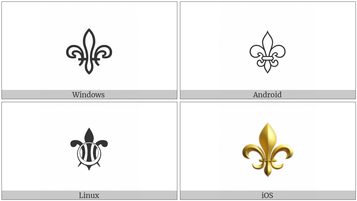 Fleur-De-Lis on various operating systems
