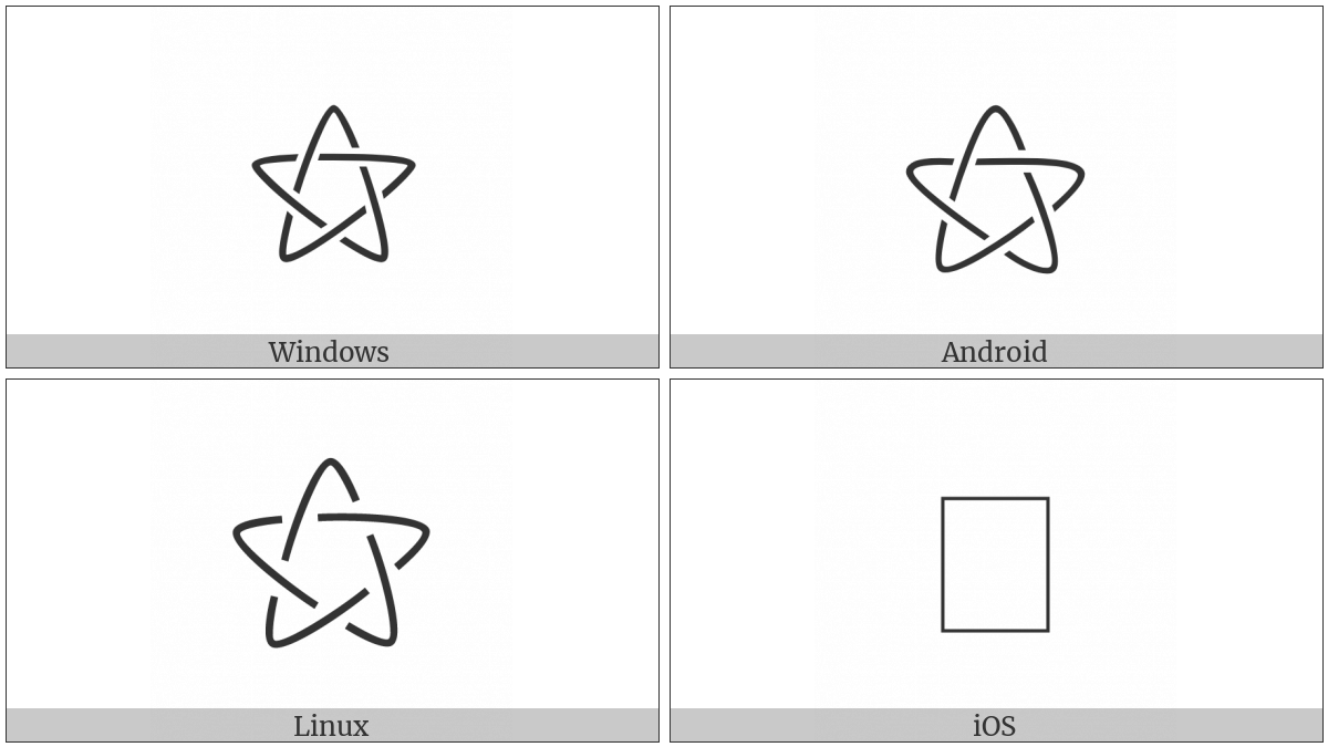 Outlined White Star on various operating systems