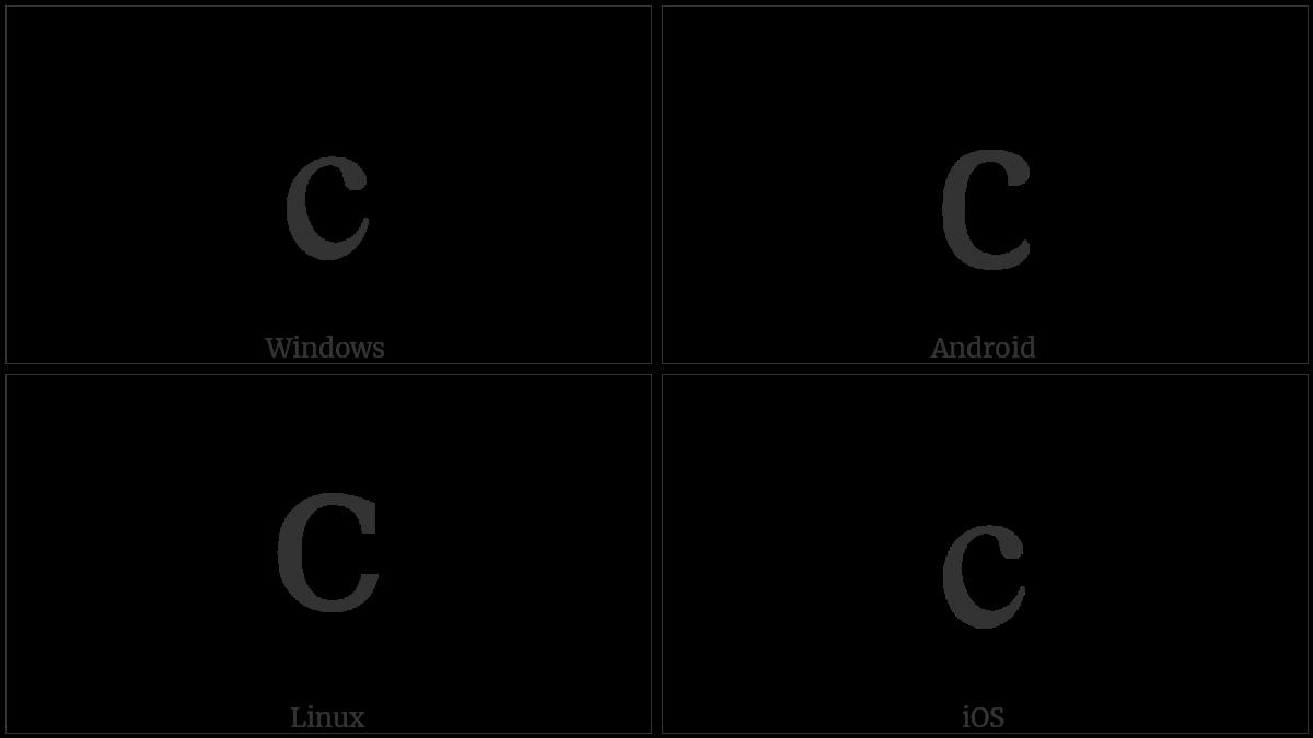 LATIN SMALL LETTER C utf-8 character