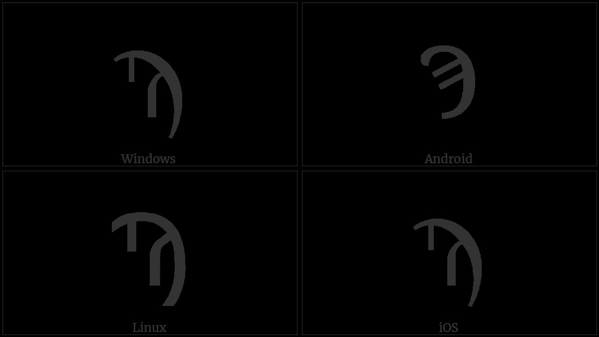 Greek Letter Sampi on various operating systems