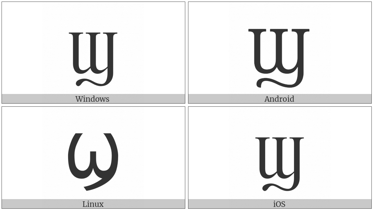 Coptic Capital Letter Shei on various operating systems