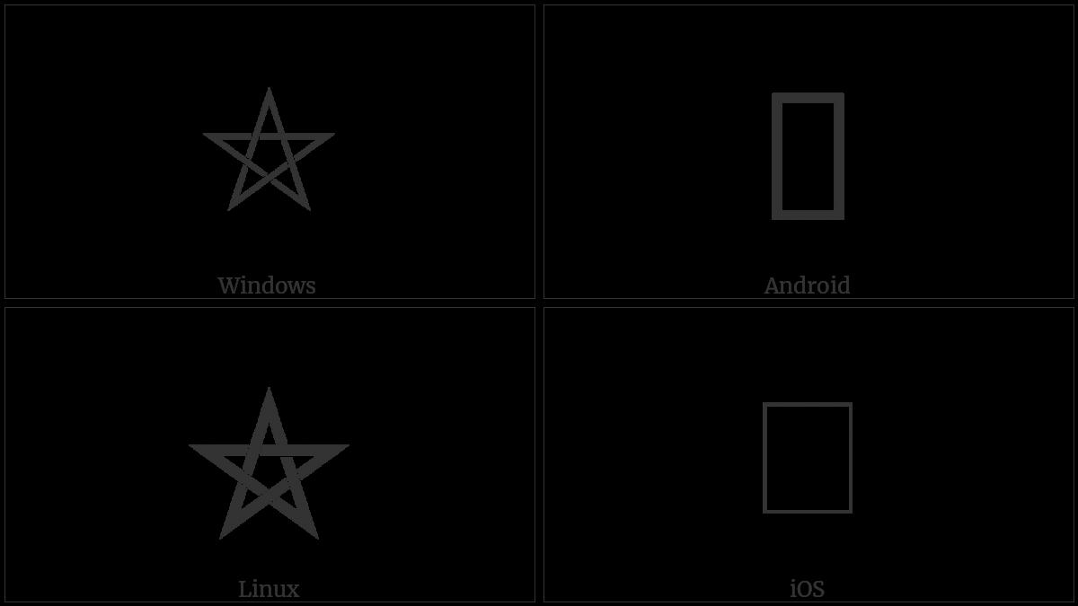 LEFT-HANDED INTERLACED PENTAGRAM | UTF-8 Icons