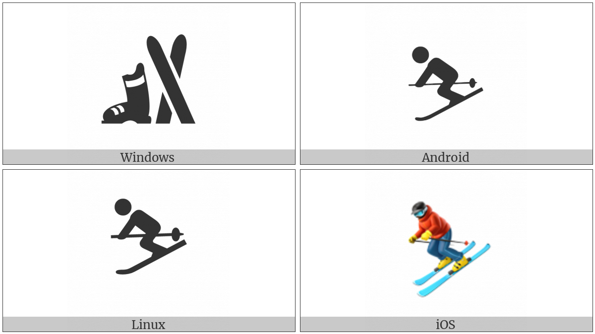 Skier on various operating systems
