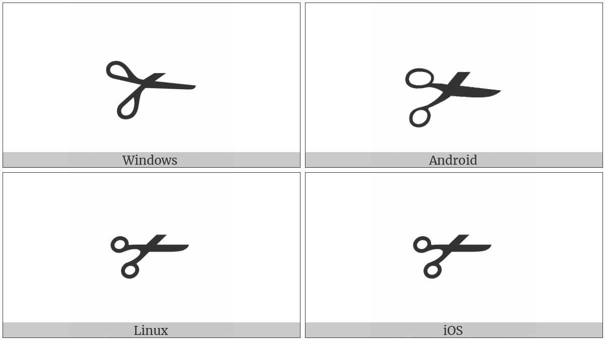 Lower Blade Scissors on various operating systems