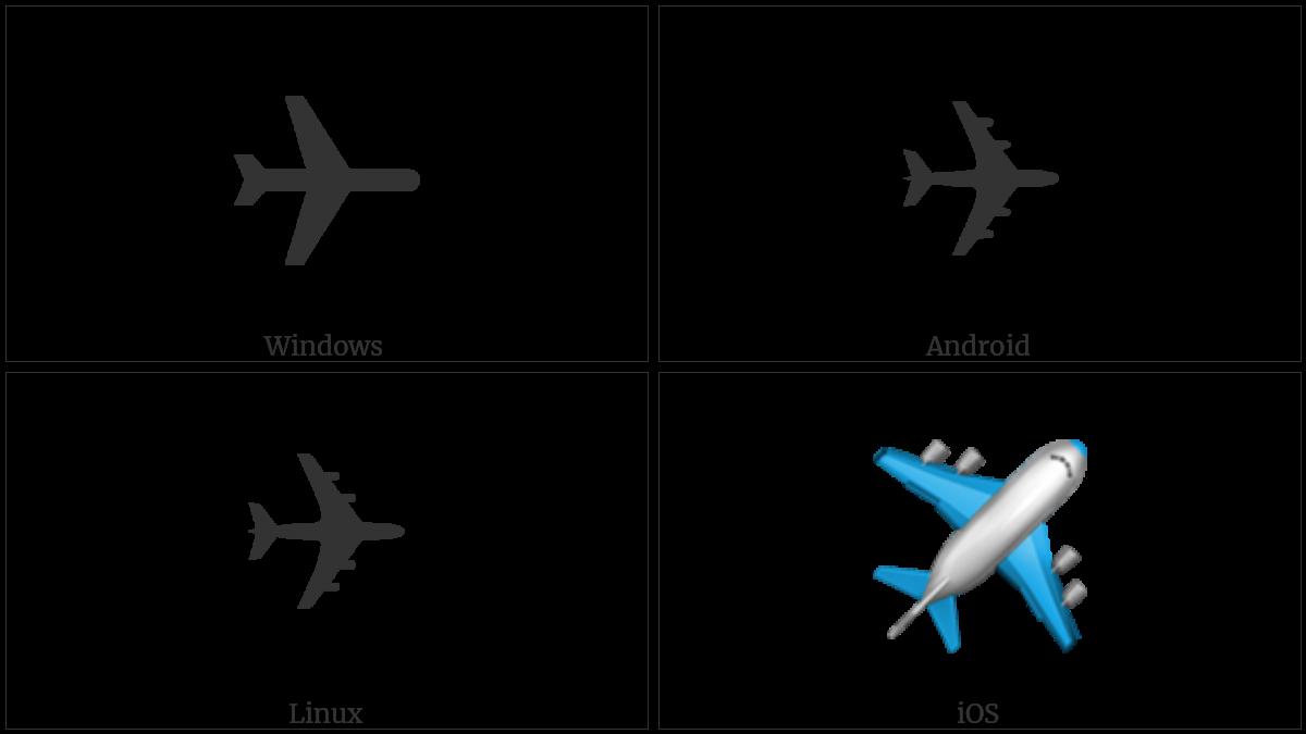 AIRPLANE utf-8 character
